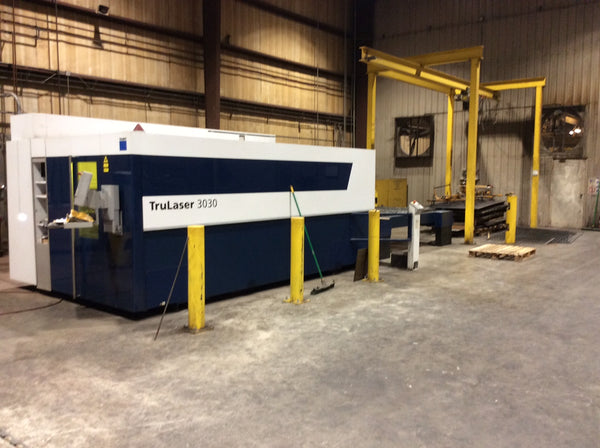 4000 Watt Trumpf TruLaser 3030 Fiber Laser, 2014- 5' X 10' With Dual Shuttle Tables
