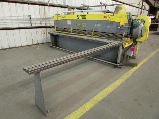 "3/16"" x 12' Cincinnati Shear Model 1412, Front Operated Power Back Gauge, Squaring Arm"