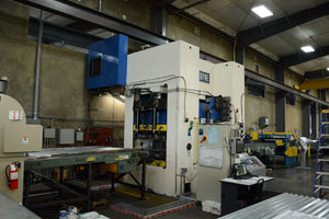 1500 Ton Macrodyne MPZ1500 4-Post Hydraulic Press, 2004