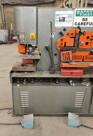 110 Ton Marvel Spartan IW110D Ironworker, 2010- 2x Punch Heads