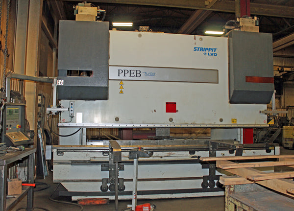 264 Ton x 13' Strippit LVD PPEB 240BH13 CNC Press Brake, 2004- 8-Axis, Dynamic Crowning