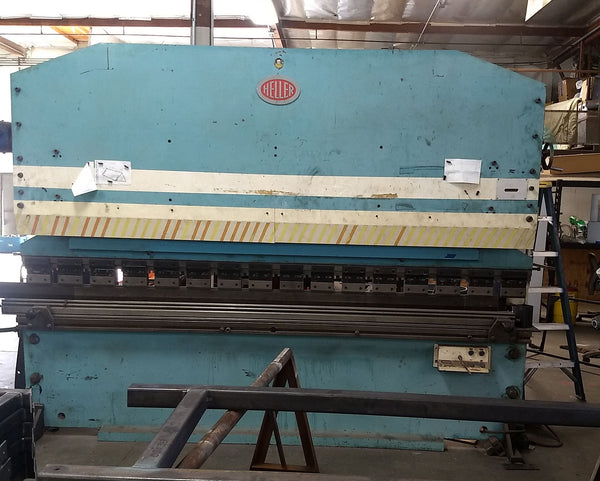 Heller 120 Ton x 10' Hydraulic Press Brake - Rebuilt Pump, Manifold, and Ram Jacks!