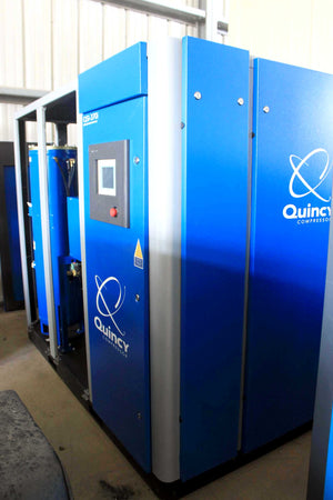 2014 Quincy QSI-370i Rotary Screw Air Compressor- 75 HP, with Hankinson HPRP750 Air Dryer