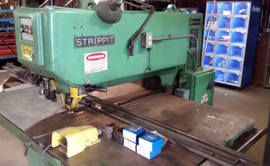 "Strippit Fabricator Super 30/30/60 Punch- 30 Ton Press- 30"" Throat, 3.5"" Hole, Tooling"