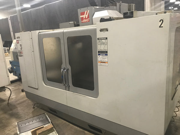 2005 Haas VF-3 with 4th Axis HRT-210 Rotary Table, 20 HP 2-Speed Gear Drive