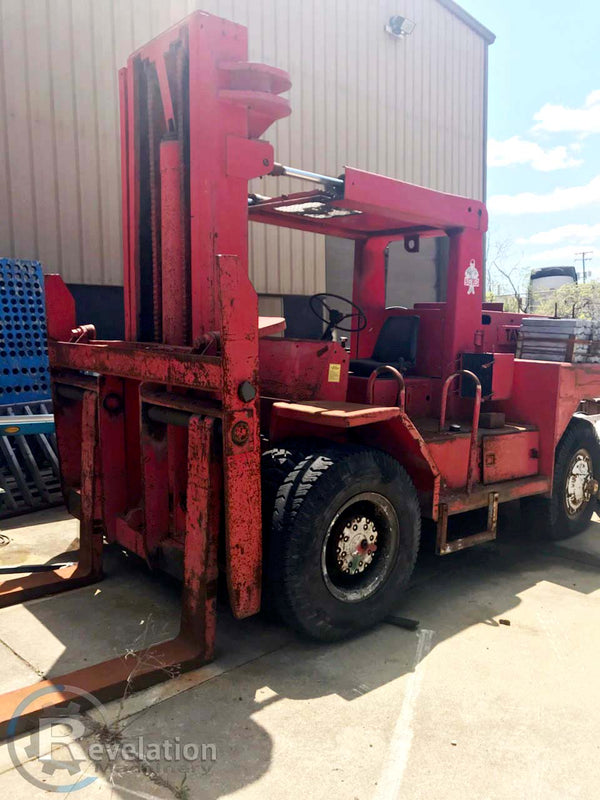 Taylor 25,000 LB Big Red Forklift- Diesel, Air Tires