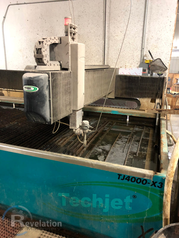 2015 Techni TJ4000-X3 Waterjet, 6' x 12' Cutting Area