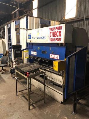 66 Ton x 6.5' Trumpf TrumaBend C60 CNC Press Brake, 2001 - Backgauge, Light Curtains