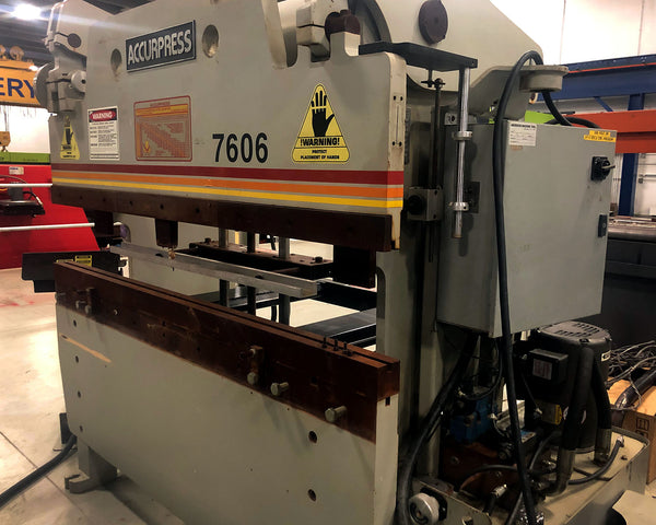 1995 Accurpress 60 Ton x 6' Hydraulic Press Brake W/ AP2 CNC Backgauge, Operates as RAM Only