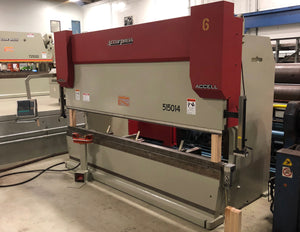 150 Ton X 14' Accurpress Accell 515014 CNC Press Brake, 2007 - Crowning