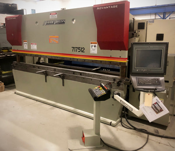 175 Ton x 12' Accurpress 717512 CNC Press Brake, 2005