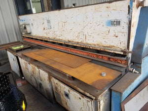 "1/4"" x 10' Adira GHO-0630 Shear, 1988 - Backgauge and Squaring Arm Included"