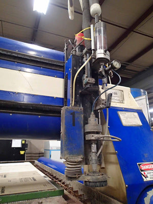 "WardJet Z-813 Waterjet, 2006- 8' x 13' Table, 3 Heads, 7"" Depth"