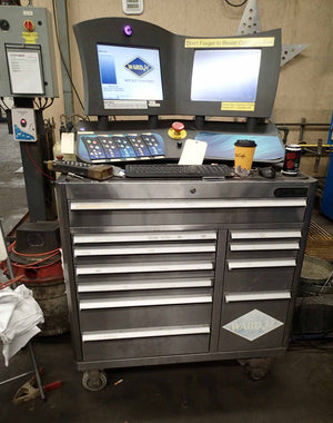 "WardJet RX-3013 WaterJet, 2009- 13' x 30' Table, 4 Heads, 12"" Depth"