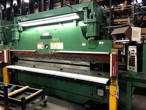 Tandem 3 Axis Cincinnati 90 Ton x 14' CNC Press Brake(s) with Hurco Autobend S7 Back Gauge Controllers (44299 & 44300) - Video's Available Upon Request