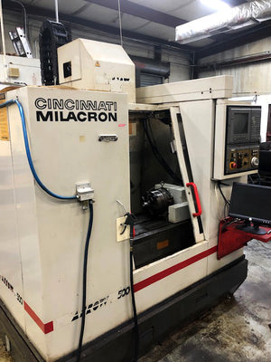 1994 Cincinnati Arrow 500 with 4th Axis Rotary Table, Video