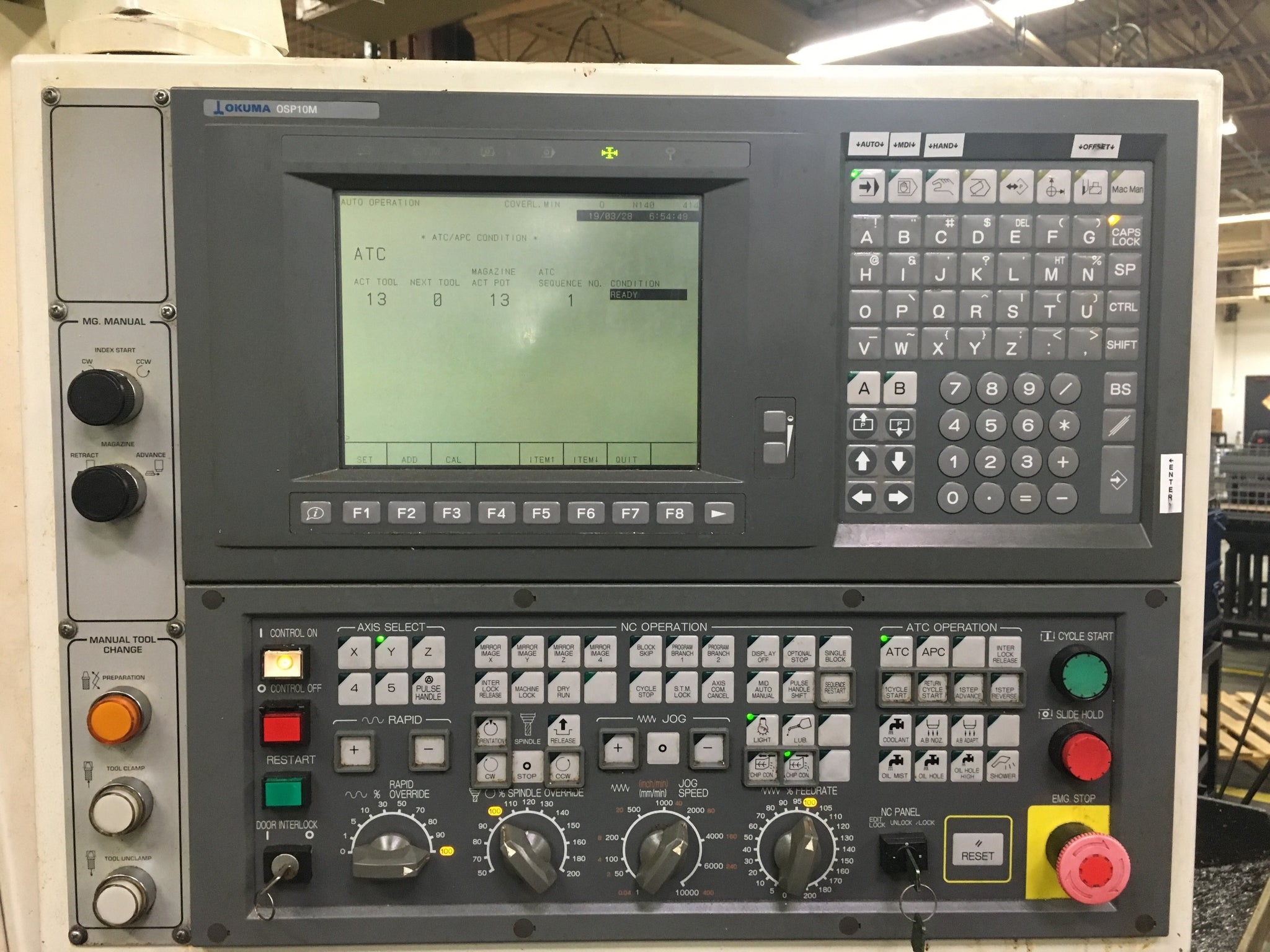 2001 Okuma ESV 3016, Tooling included, Priced to sell