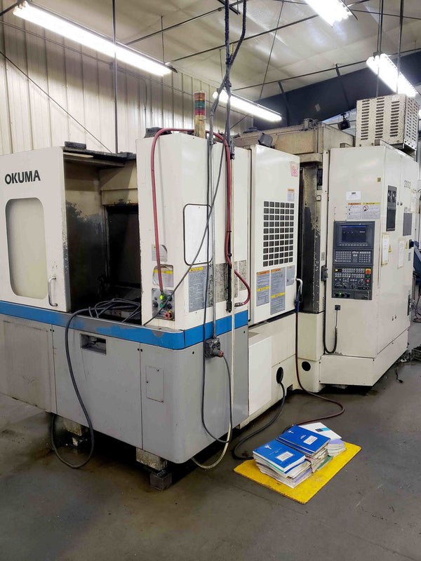 Okuma MA-40HA 400mm Horizontal Machining Center, 2000 - 60 ATC, Renishaw Probing