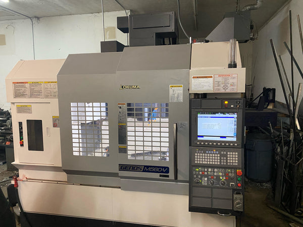 Okuma Genos M560 VMC, 2018 - 4th Axis, Probing, Under Power