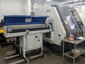 Nakamura Tome WY-250 MMYY CNC Lathe,  2011 - Bar Feeder Twin Spindle, Twin Live Turrets