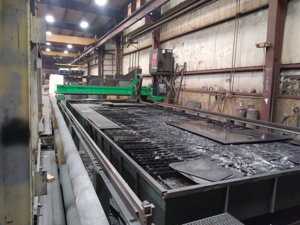 10' x 24' Sector Spectrum CNC Plasma, 2006 - W/ Oxy Torch