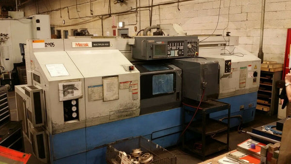 "Mazak Multiplex 430 Twin Spindle CNC Turning Center, 1999 -Tool Holders, 10"" Chucks"