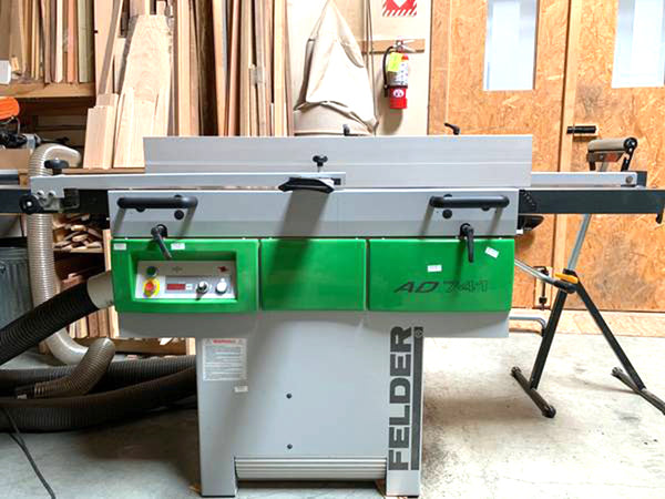 "2013 Felder AD 741 Planer/Jointer, 6' 10"", Woodworking, Low Usage"