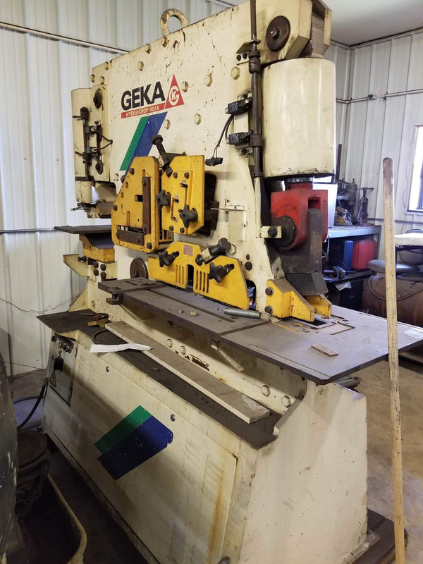 Geka Hydracrop 110/A 120 Ton Ironworker, Year 2000, Tooling Included