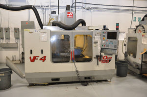 Haas VF-4, 5th Axis Rotary Table, Prog Cool, Auger