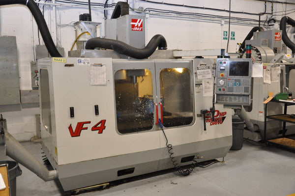 2000 Haas Vf4, 5th axis Rotary table, P cool