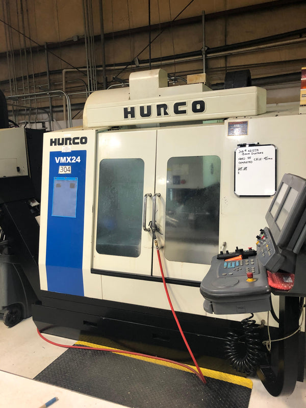 Hurco VMX 24 VMC, 2008 - 4th Axis Rotary Table Included, Under Power, Medical, Video