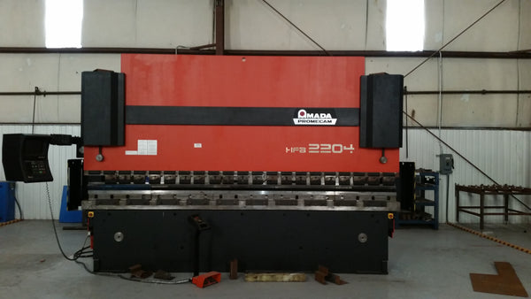 242 Ton X 13' Amada HFB 2204 CNC Press Brake, 1999- 8 Axis