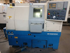 Daewoo Puma 6G CNC Lathe, Kitagawa chuck, Very Clean, under power