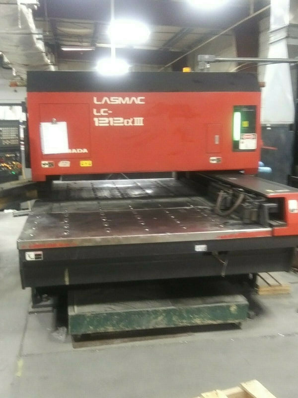 2001 2K Watt Amada Pulsar LC1212A3 CO2 CNC Laser With Fanuc Resonator