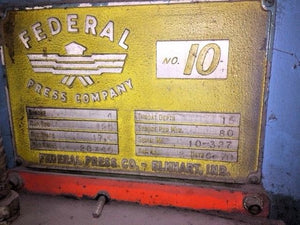 Federal #10 125 Ton OBI Mechanical Press