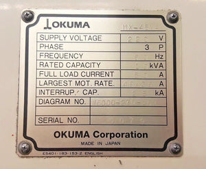 Okuma MX-45VA Machining Center