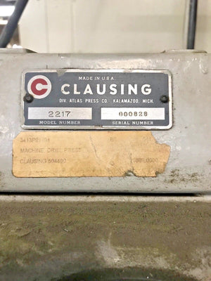"Clausing 20"" Drill Press Model 2217"