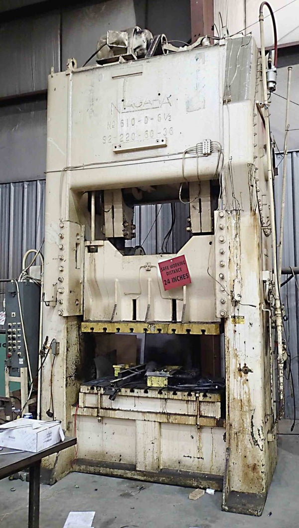 Niagara 220 Ton Straight Side Press- Model S2-220-60-36