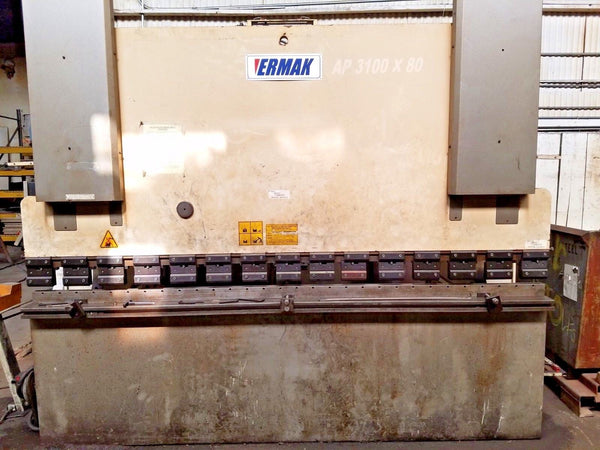 88 Ton x 10' Ermak AP-10-88 CNC Press Brake, 2004