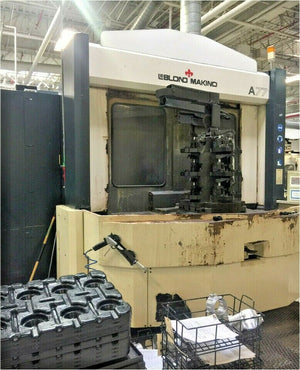 Makino A77 Horizontal Machining Center- Thru Spindle Coolant, 2x Tombstones Inc.