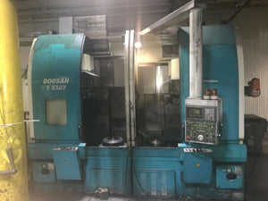 Doosan V550T CNC VTL, 2001 - Priced to Sell, Under Power, Video