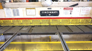 "Cincinnati Model 1810 Shear 1/4"" x 10ft, Front Arm Support, Powered BackGauge"
