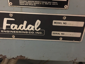 Fadal 6030 CNC Vertical Machining Center, Year 1992