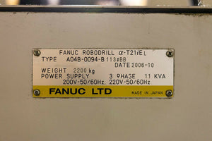 2006 Fanuc Robodrill T-21ieL - Long Bed - Auto Pallet Changer - Chip Conveyor