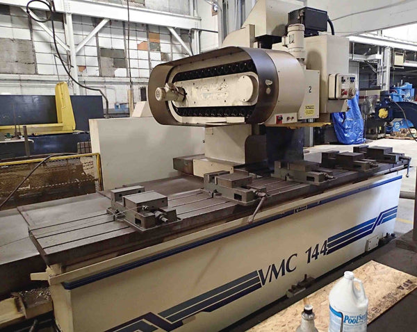 "KOMO VMC 144 Fixed Table Mill, 1991- 144"" x 20"", Fanuc Control"