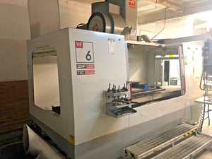 2002 Haas VF6B/40 - Thru Spindle Coolant, 4th Prewire, USB, SMTC,Video Available