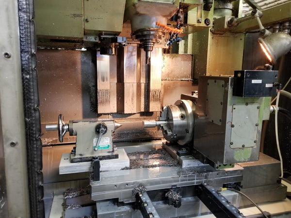Okuma MC-4VAE CNC Vertical Machining Center - 4th Axis Tsudakoma Rotary - Video