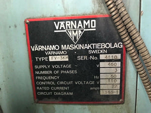 Varnamo FV-3KM Vertical Milling Machine