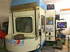 2001 Saeilo Mach 3A Horizontal Machining Center - Fanuc OM Control - Under Power