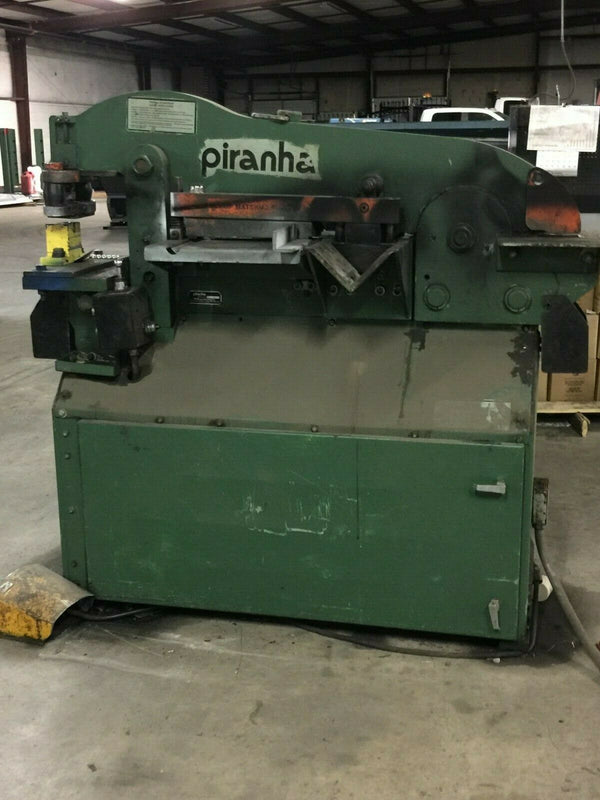 Piranha P3 Iron Worker 50 Ton- Tooling, Punches and Dies Included!